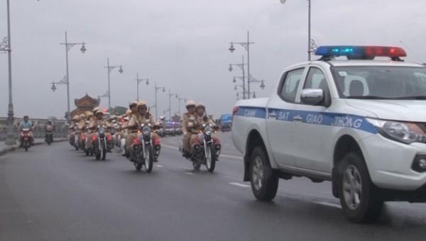 Công an TP Huế mở đợt cao điểm tấn công, trấn áp tội phạm, trật tự đô thị dịp Tết Nguyên đán