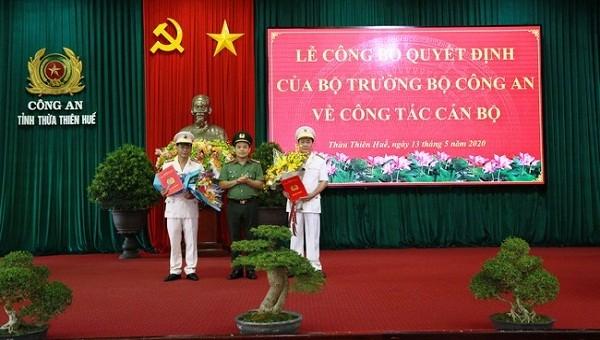 Bổ nhiệm 2 Phó Giám đốc Công an tỉnh Thừa Thiên Huế