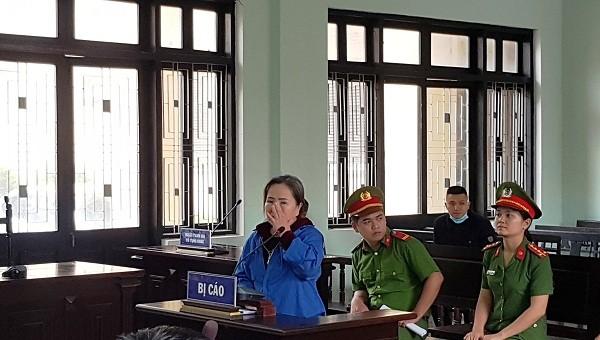 Bị cáo Phạm Thị Thu tại phiên tòa sơ thẩm