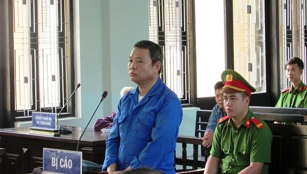 Bị cáo Lê Văn Thành tại phiên tòa