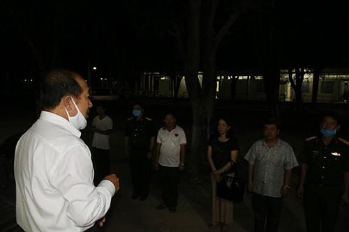 Phó Chủ tịch Đồng Tháp kiểm tra khu vực cách ly ngay trong đêm