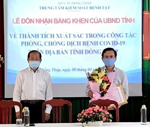 Tuyên dương và trao bằng khen cho Trung tâm Kiểm soát Bệnh tật tỉnh Đồng Tháp