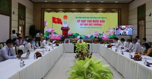 Hội đồng nhân dân tỉnh Đồng Tháp tổ chức kỳ họp thông qua 14 Nghị quyết quan trọng