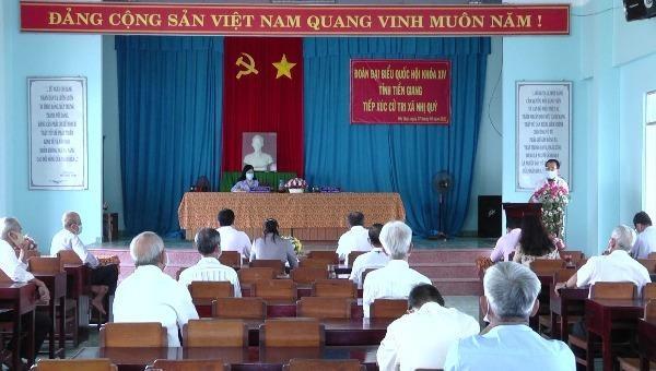 Đoàn Đại biểu Quốc hội tỉnh Tiền Giang tổ chức tiếp xúc cử tri