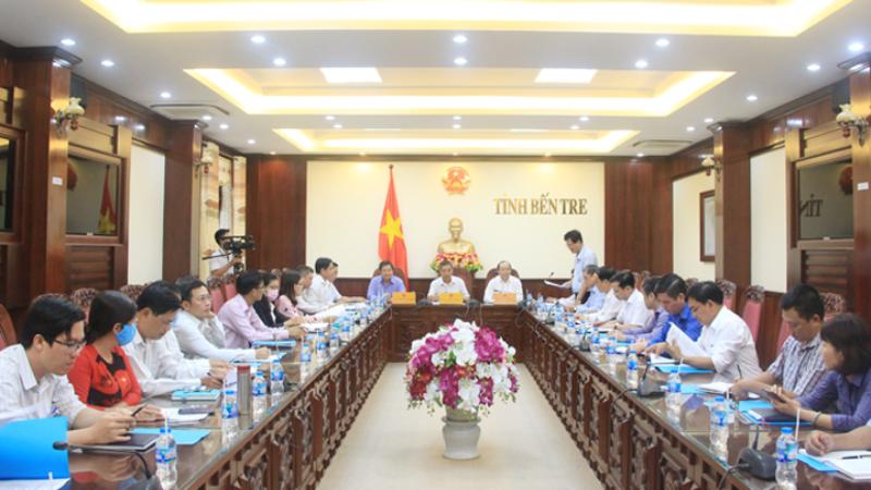 Buổi làm việc của Liên minh HTX Việt Nam với lãnh đạo UBND tỉnh Bến Tre.