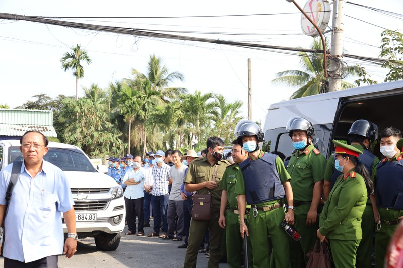 Cưỡng chế thi hành án dân sự tại huyện Châu Thành, tỉnh Tiền Giang