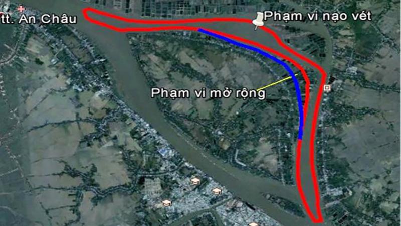 Giảm lưu lượng giao thông thủy đến ngày 7/4 để triển khai Dự án hạn chế sạt lở bờ sông Hậu