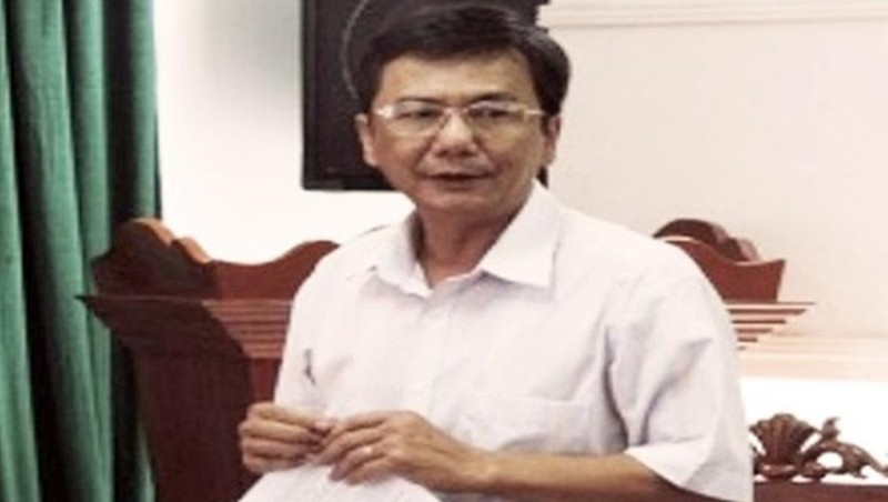 Ông Lê Tấn Thảo khi còn làm Phó Chủ tịch UBND huyện Đông Hòa.