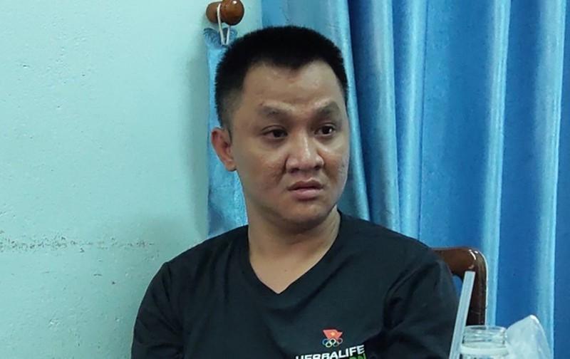 Đối tượng Nguyễn Bá Thiện tại cơ quan điều tra.