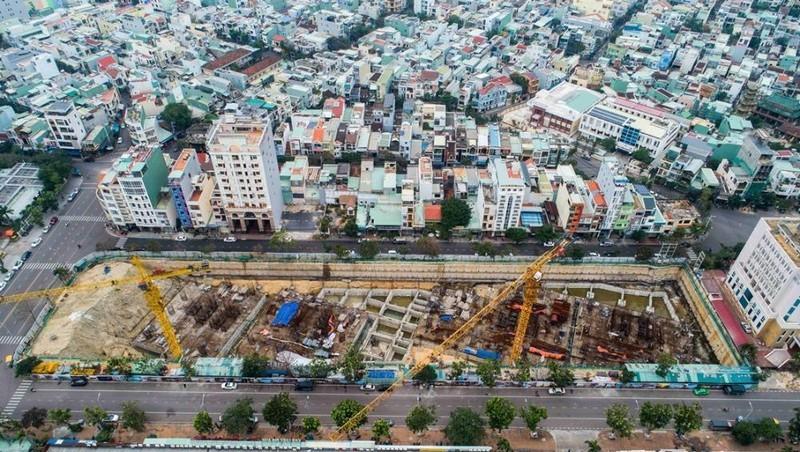 Hiện trạng công trình xây dựng không phép thuộc dự án I-Tower Quy Nhơn.