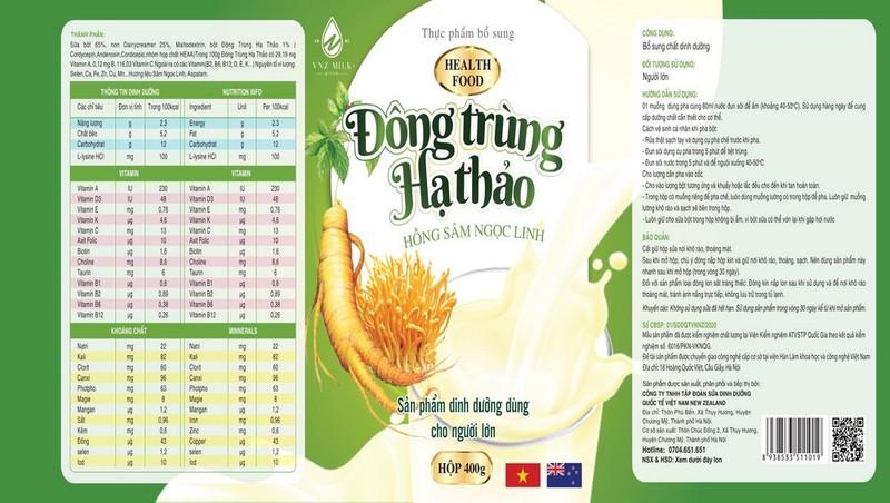Sữa bột Đông Trùng Hạ Thảo Hồng Sâm Ngọc Linh: Người bạn đồng hành với sức khỏe của mọi gia đình