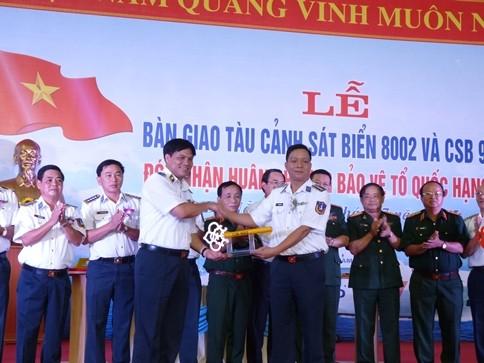 Lực lượng Cảnh sát biển tiếp nhận thêm 2 tàu hiện đại