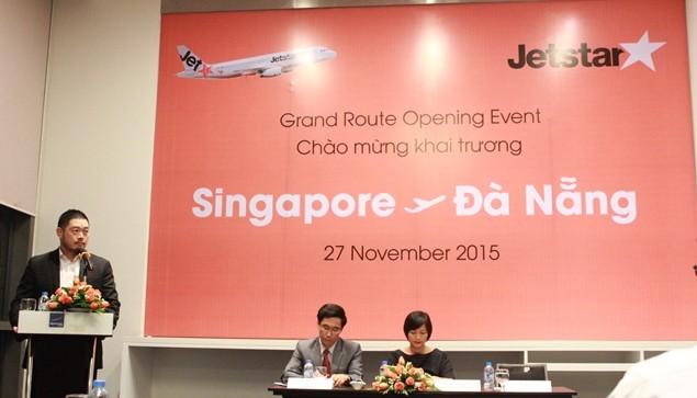 Jetstar Asia mở chuyến bay du lịch giá rẻ đầu tiên kết nối Đà Nẵng và Singapore