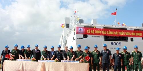 Lễ hạ thủy tàu Cảnh sát biển 8005