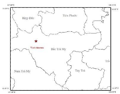 Vị trí động đất xảy ra ngày 31/1 (ảnh Viên vật lý địa cầu)