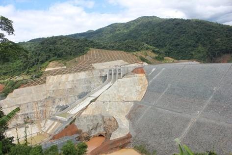 Sông Bung 2 đang trong quá trình hoàn thiện