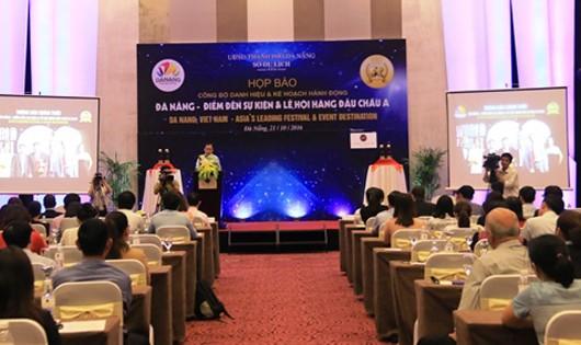 Họp công bố sự kiện thành phố đạt danh hiệu Điểm đến sự kiện  và lễ hội hàng đầu châu Á 2016