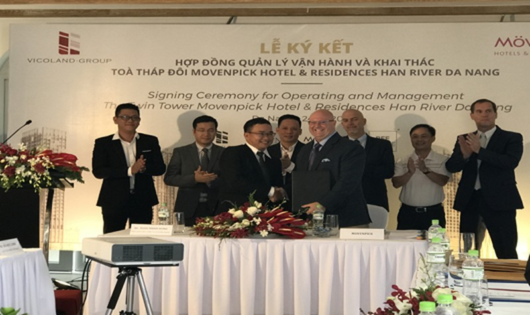 Vicoland ký kết với đối tác nước ngoài về quản lý, khai thác tổ hợp khách sạn, căn hộ ven sông Hàn