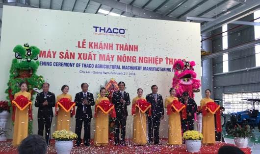 Lễ khánh thành Nhà mát sản xuất Máy nông nghiệp Thaco