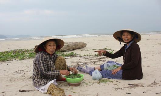 Bà con Nam Ô lâu nay vẫn sinh sống từ nghề đi biển