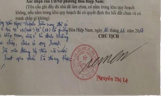 Đà Nẵng: Cán bộ giả chữ ký Chủ tịch phường hợp thức nhà trái phép