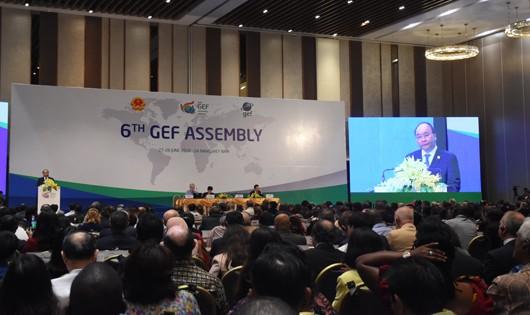 Thủ tướng Nguyễn Xuân Phúc tham dự và phát biểu tại phiên khai mạc Kỳ họp Đại hội đồng GEF6