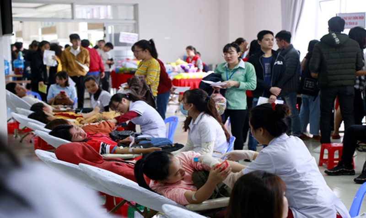Ngày hội hiến máu tình nguyện.