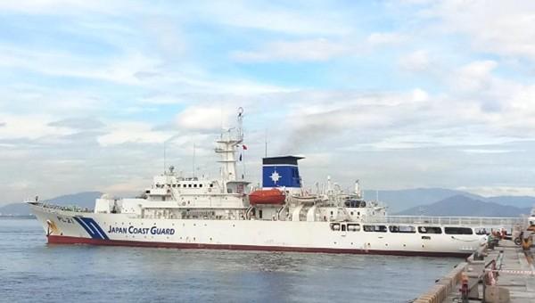 Tàu huấn luyện Kojima của Lực lượng bảo vệ bờ biển Nhật Bản cập cảng Tiên Sa Đà Nẵng