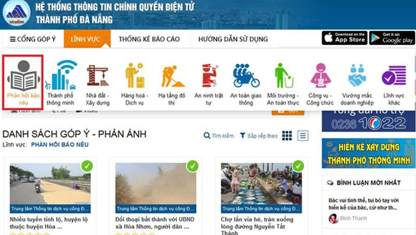 Hệ thống thông tin chính quyền điện tử TP. Đà Nẵng
