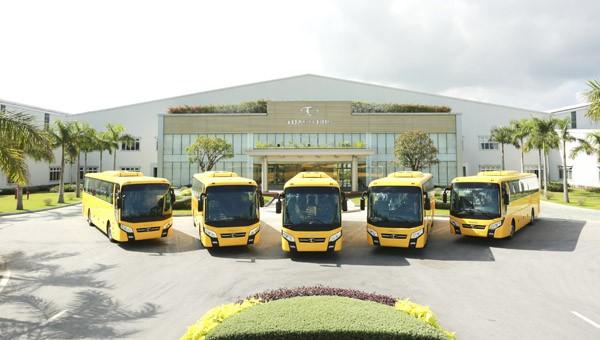 Lô xe bus Thaco thương hiệu Việt Nam xuất khẩu sang Philippines