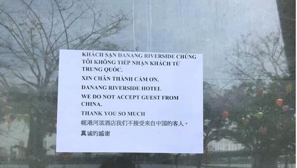 Liên quan dịch bệnh Corona, 1 khách sạn tại Đà Nẵng từ chối nhận khách Trung Quốc