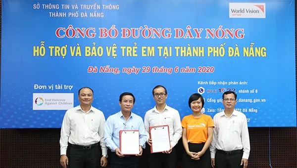 Công bố Đường dây nóng hỗ trợ bảo vệ trẻ em TP Đà Nẵng