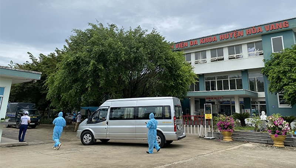 Trung tâm Y tế huyện Hòa Vang, nơi cách ly các bệnh nhân mới vừa phát hiện mắc Covid-19