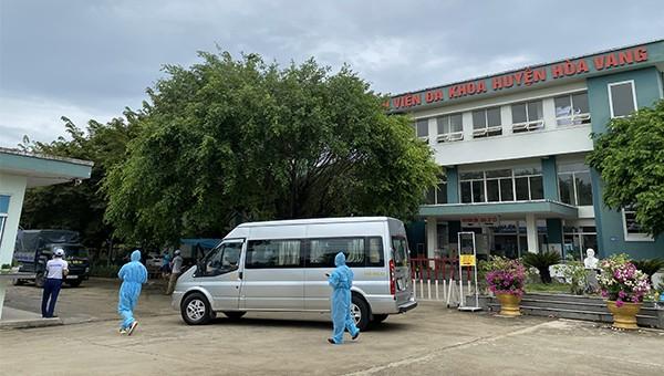 Các ca mắc hiện được đưa về điều trị tại Bệnh viện dã chiến Trung tâm Y tế huyện Hòa Vang