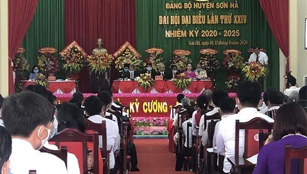 Đại hội Đảng bộ huyện Sơn Hà, Quảng Ngãi