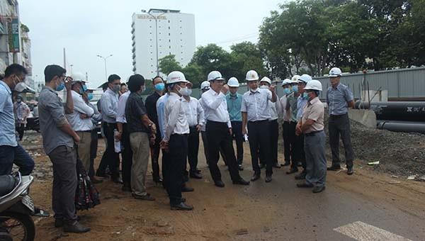 Chủ tịch UBND TP. Đà Nẵng kiểm tra công tác phòng chống lụt bão tại các công trình trọng điểm