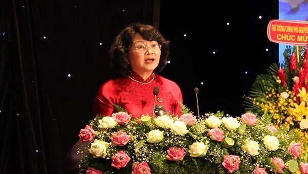 Phó Chủ tịch nước Đặng Thị Ngọc Thịnh phát biểu tại Đại hội Đại hội Thi đua yêu nước lần thứ V, giai đoạn 2020-2025 của TP Đà Nẵng.