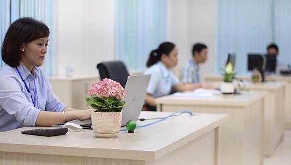 Góc làm việc của CBNV PC Quảng Ngãi.