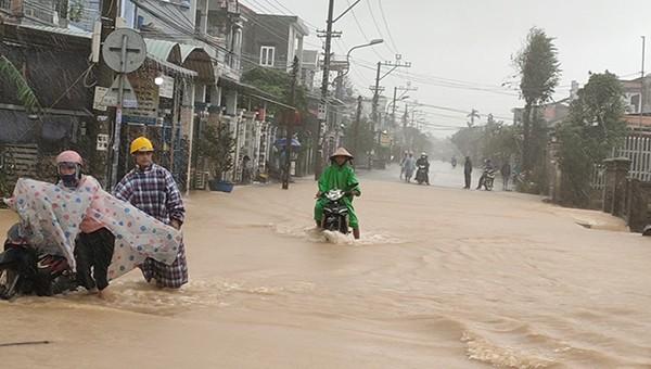 Cảnh ngập lụt tại Đại Lộc, Quảng Nam