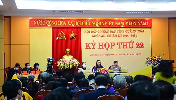 Hôm nay (9/12), HĐND tỉnh Quảng Ngãi khóa XII khai mạc Kỳ họp thứ 22.