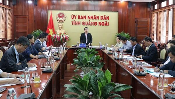 UBND tỉnh Quảng Ngãi họp nghe báo cáo ý tưởng đề xuất quy hoạch dự án Khu công nghiệp- Đô thị- Dịch vụ Dung Quất II