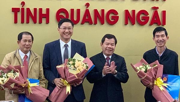 3 lãnh đạo các sở tại Quảng Ngãi vừa được bổ nhiệm.