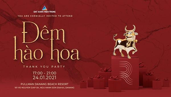 """Đất Xanh Miền Trung tổ chức tiệc """"Đêm Hào Hoa"""" tri ân khách hàng năm 2020"""