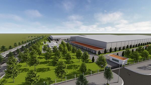 Phối cảnh khu Dự án Nhà mát sản xuất linh kiện bán dẫn do Mỹ đầu tư.