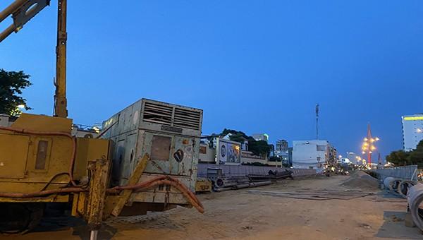 Nút giao thông cầu Trần Thị Lý chậm tiến độ so với kế hoạch