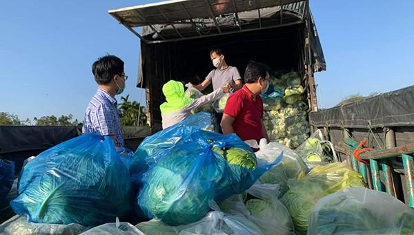 """Người Đà Nẵng nườm nượp kéo nhau mua nông sản """"giải cứu"""" giúp nông dân Hải Dương"""