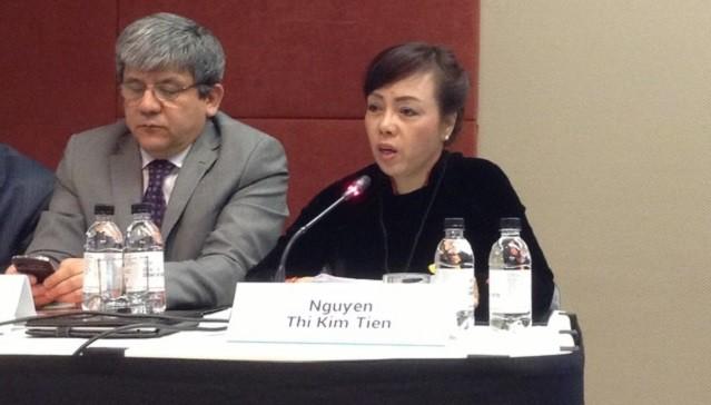 Bộ trưởng Nguyễn Thị Kim Tiến phát biểu tại diễn đàn