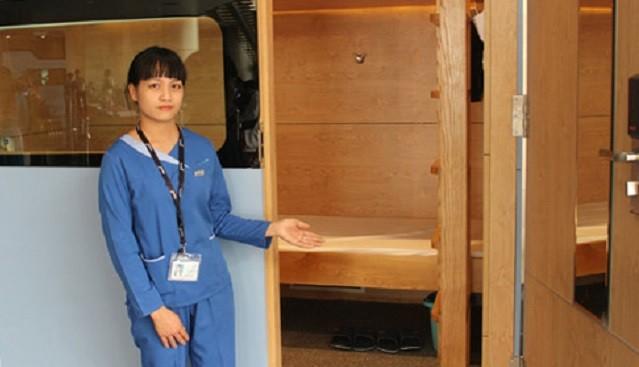 Buồng ngủ tại sân bay Nội Bài có giá hơn 200.000 đồng cho 3 giờ đầu tiên