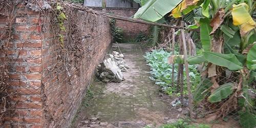 Đường vào ngôi mộ mẹ Việt Nam anh hùng Ngô Thị Mỹ được tân lấp khi UBND xã Tam Sơn (TX. Từ Sơn, tỉnh Bắc Ninh) chưa có văn bản đồng ý.
