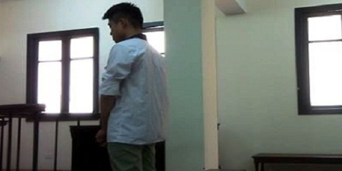 Bị cáo Tuấn tại tòa.